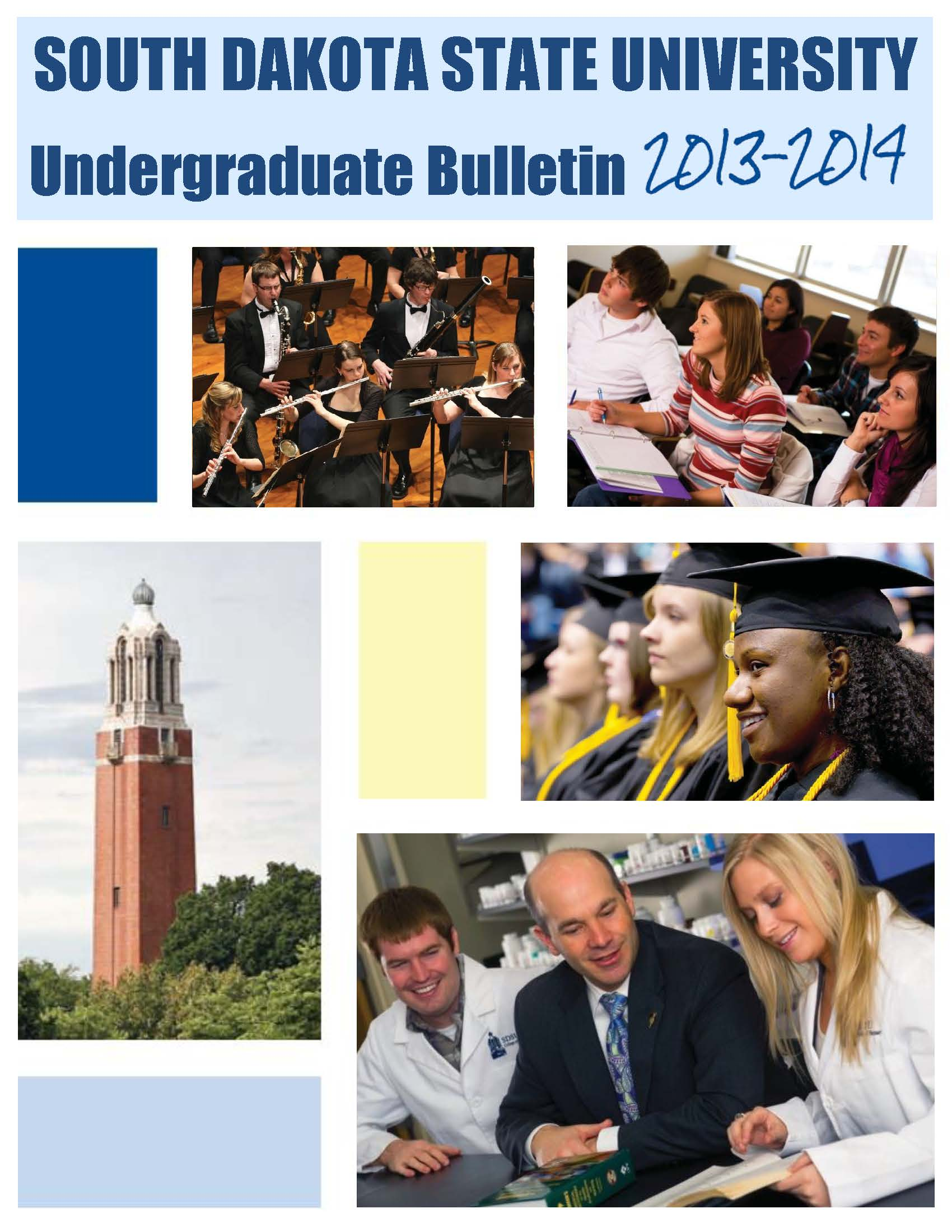 2013-2014 Undergraduate Catalog cover