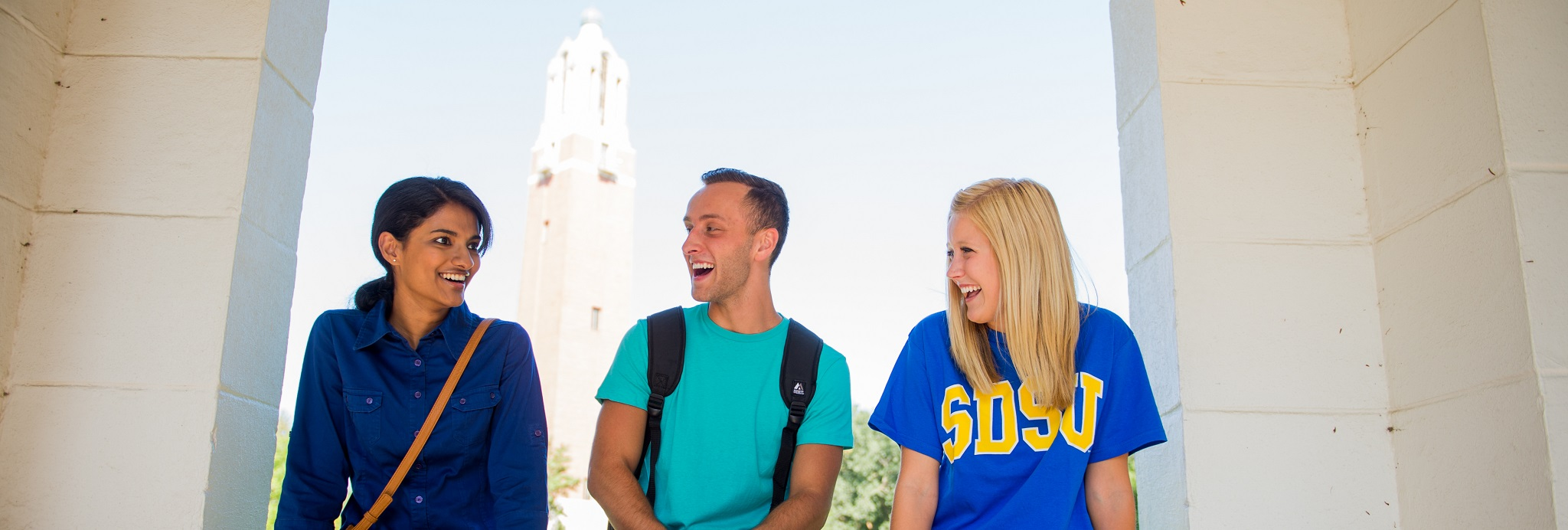 SDSU students on campus.